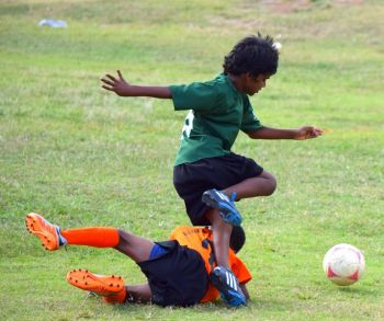 Cedar Green overcame First Impressions, 1-0, in the other U7 semi-final. Photo: Charlie E. Jackson/VINO
