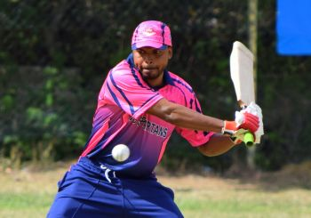 Terry Nanton hit a quickfire 54 for the VG Spartans, who posted a massive 282 against the BVICA Youth team. Photo: Charlie E. Jackson/VINO