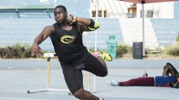 The Boys U20 Shot Put was won by Diamante B. Gumbs, who recorded 15.56 metres. Photo: BVIAA/Cleave M. Farrington