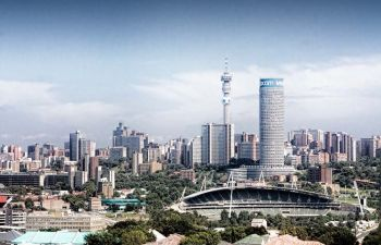 View of skyline in Johannesburg, South Africa where the Virgin Islands is looking to tap into the countries business services sector. Photo: Internet Source