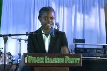 "Ms deCastro in her opening speech spoke of her struggles to put 'pen to paper, words to ideas, and solutions to issues.' She told the audience gathered, ""I just couldn't get beyond the truth of where we are as a territory,"" in highlighting the plight of the Virgin Islands before and after the hurricanes of 2017. Photo: Facebook"