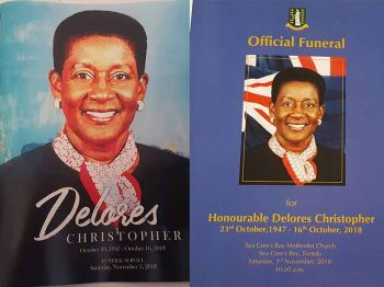 Booklet and more at the Funeral of the Late Hon Lettsome-Christopher. Photo: VINO