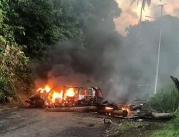 The protests in Dominica, saw demonstrators blocking the two main roads with burning debris which lead to the Douglas-Charles Airport. People have also set up fiery roadblocks in the north-eastern constituency of Marigot which is represented by the opposition. Crew Center