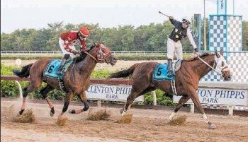 Doughmaker crosses the line first in the Governor's Cup in St Thomas, USVI on May 1, 2015. Photo: Virgin Islands Daily News