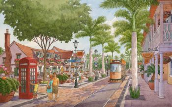 An artist's impression of the Tortola Pier Park Project. Photo: BVI Ministry of Communications & Works