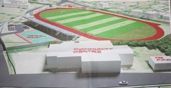 An artist impression of the proposed stadium for the East End Community. Photo: VINO/File