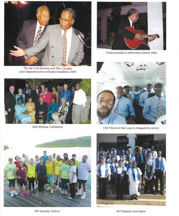 Some of the significant moments in the life of the late former Deputy Governor Mr M. Elton Georges OBE, CMG. Photo: VINO