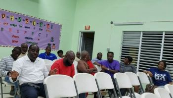 Last evening, February 10, 2020 at a community meeting at the Ivan Dawson Primary School, residents demanded that their District Representative, Hon Melvin M. Turnbull (R2) summon Premier Andrew A. Fahie (R1) to an urgent community meeting at the school to address the issue of sewage stench. Photo: VINO