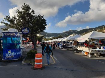 The 2019 edition of Christmas on DeCastro Street has attracted some 50 booths. Photo: VINO