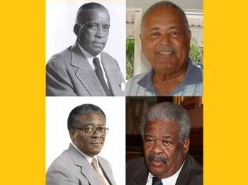 The four elected members from districts who head the Government of the VI over the years via the party system were, Chief Ministers Dr Willard Wheatley (D8), H. Lavity Stoutt (D1) and Cyril B. Romney (D5), along with the first Premier Hon Ralph T. O'Neal OBE (D9). Photo: GIS/VINO/File