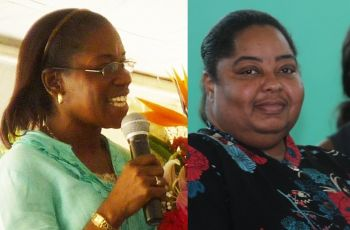 Principal Sybil S. Hodge (left) said neither she nor Mr Author Titley were going to comment on the matter as it was now in the hands of a truancy officer. Efforts to get a response from Acting Chief Education Officer Jillian Douglas-Phillip (right) were unsuccessful. Photo: VINO/File