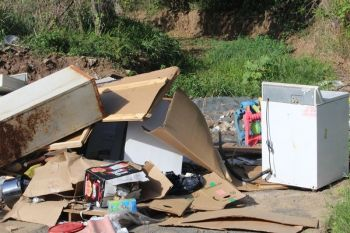 More dumped garbage in the East End area. Photo: VINO/File
