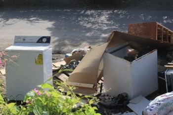 Honourable Penn said too that the garbage issue is another vexing one for the district, saying that persons continue to dump indiscriminately in the community. Photo: VINO/File