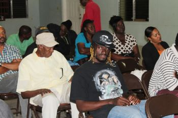 A section of the audience at the community meeting. Photo:VINO