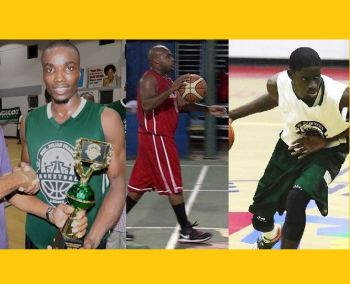 From left: Ray D. Victor, Nathaniel J. Malone and Dion M. Blyden are three of the players in the draft for the 2019 Hon Julian Fraser Save the Seed Basketball League. Photo: Provided