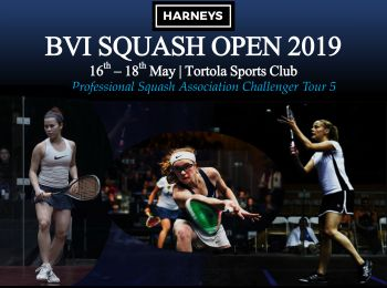 The Harneys BVI Squash Open tournament will take place May 16 – 18, 2019 at the Tortola Sports Club (TSC), Virgin Islands. Photo: Provided