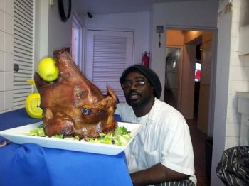 Javan E. Hodge stated that his inspiration came from cooking with his mother when he was a young boy. Photo: Provided