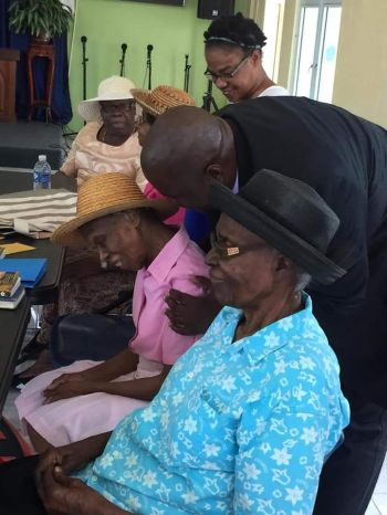 "The Premier had on the previous day, Thursday March 7, 2019, ""brought tears to my eyes with the warm greetings I received from my Creme of the Crop Seniors in Carrot Bay."" Photo: Facebook"