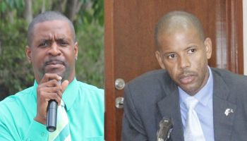 A few months ago the Financial Secretary Neil M. Smith (right) did not use the words 'broke', however, he confirmed that the Virgin Islands Government 'has a cash flow problem' and warned if Ministers of Government do not follow the rules the country would end up broke. Hon Andrew A. Fahie (R1), a former Minister for Education and Culture, has led the charge that the Dr Smith administration has continued to violate the Financial Management Protocol signed with the United Kingdom Government. He has also accused the NDP government of being 'the most corrupt government in the history of the territory.' Photo: VINO/File