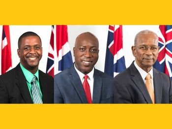 While Chairman of the Virgin Islands Party (VIP), Hon Andrew A. Fahie (R1) continues to ignore Chairman of the National Democratic Party (NDP 1), Hon Myron V. Walwyn (AL) in what some call a weak and childish rant that one must be an At-Large Candidate to be Premier. Photo: GIS