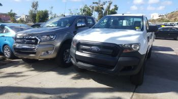 Built Ford Tough! A Ford Ranger Pick Up on display outside First Caribbean International Bank. Photo: TAG
