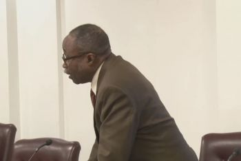 Premier and Minister of Finance Hon Andrew A. Fahie (R1) was at the time speaking at the Friday, May 17, 2019, Third Sitting of the First Session of the Fourth HoA of the Virgin Islands (VI), when responding to questioning from the Representative of the Third District, Hon Julian Fraser, RA (in photo), he revealed that the files on BVI Airways have either been deleted or have gone completely missing from both the Ministry and at the Premier's Office. Photo: VI HoA