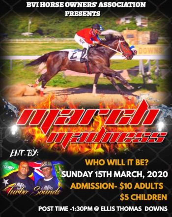 The Virgin Islands Horse Racing Association is galloping full speed ahead to pull off a race card at Ellis Thomas Downs in Sea Cows Bay, Tortola, on Sunday, March 15, 2020. Photo: Facebook