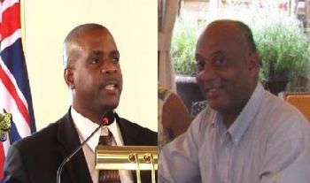 VIP Chairman, Andrew A. Fahie (left) dispelled rumors of running At Large when the congress announced him running again in District 1. Vincent O. Wheatley (right) will contest in District 9, where he worked tirelessly following the hurricanes of 2017. Photo: VINO files