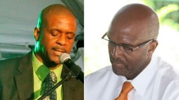 Left: Opposition Leader and Virgin Islands Party Chairman Hon Andrew A. Fahie (R1) will be asking in the House of Assembly on April 18, 2017 about the price tag on the Delta Petroleum fuel seizure case. Right: Commissioner of Customs Wade N. Smith. Photo: VINO/File