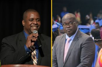Premier and Minister of Finance, Hon Andrew A. Fahie (R1), left, and Speaker of the House of Assembly, Hon Julian Willock, right, have been commended by commentator Julio S. Henry aka 'Sam' for their conduct in the HoA. Photo: GIS/VINO/File