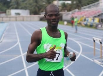 Julius Farley will go into the 12th BVI Half Marathon on Sunday December 3, 2017 as one of the favourites to take the title and which will add to his VG Half Marathon crown earlier this year. Photo: Dean H. Greenaway aka 'The Sportsman'/File