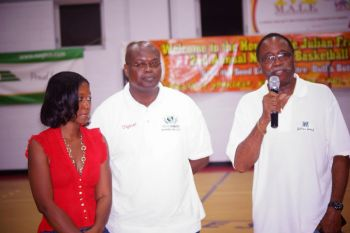 Meanwhile, Hon Julian Fraser RA, a founder of the League urged all to pay close attention to all health issues and said he was happy to endorse breast cancer awareness month. Hon Fraser said that his Basketball League continues to be more than just basketball, but encompasses all aspects of youths, the fans and the entire community. Photo: Andre 'Shadow' Dawson