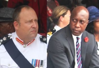 While testifying before the 2016 House of Assembly's Standing Finance Committee, Superintendent of Prison, United Kingdom national David Foot (left), who was hired by the controversial Minister for Education and Culture and Territorial At-Large Member Hon Myron V. Walwyn (right) after it was alleged that he forced out a local Mr Charles L. Forbes, brought a number of issues to light. Photo: VINO/File