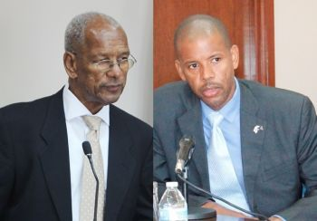 From left: Premier and Minister of Finance Dr The Hon D. Orlando Smith (left) and Financial Secretary Neil M. Smith (right). Photo: VINO/File