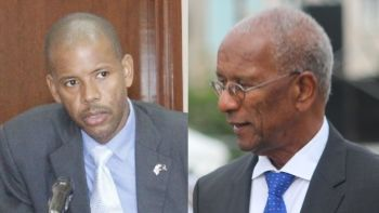 From left: Financial Secretary Neil M. Smith and Premier and Minister of Finance Dr The Hon D. Orlando Smith. Photo: VINO/File
