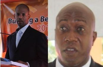 Right: Hon Myron V. Walwyn (AL), the Minister for Education and Culture, has blamed the senior civil servants for many of the failures of the Minister of Finance Dr The Honourable D. Orlando Smith (AL). Left: Ousted FS, Neil M. Smith. Photo: VINO/File