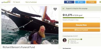A screenshot of the GoFundMe page for Richard Benson. Photo: GoFundMe