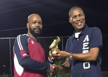 The Most Goals Award went to Andres Bailey (left) of Assassins. Photo: Provided