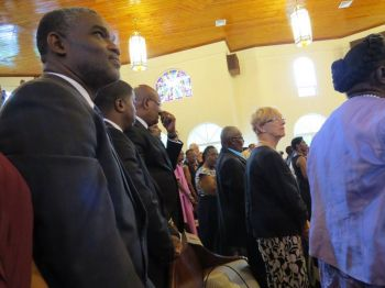 Government officials at the funeral service of Mrs Daisy E. Braithwaite. Photo: Provided