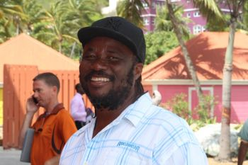 Jost Van Dyke resident, Gregory A. Callwood did have a few kind words for government since he believes the NDP has done much for Jost Van Dyke in its two years in office when compared to the VIP's four years in government. Photo: VINO/File