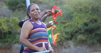 Passionate Grenada supporters urge their team on against NTCOG. Photo: supplied
