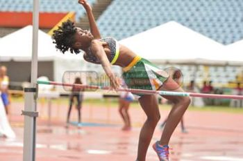 """Xiomara """"Gia"""" Malone ran 3:54.72 for 19th overall, but had the highest placing of the Virgin Islands athletes in 12thplace with 3553 points, on the strength of three top 10 finishes in the 80m, Long Jump and High Jump where she was fifth. Photo: Provided"""