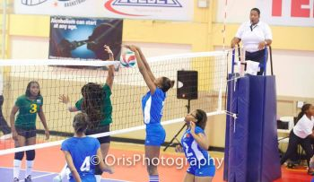 The match essentially determined the 5th position (St Martin) and the cellar position – (BVI) of the ECVA Junior Female Championship. Photo: Provided