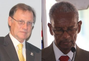 United Kingdom appointed Governor John S. Duncan OBE (left) is expected to read the Speech from the Throne at the September 22, 2016 sitting of the Virgin Islands House of Assembly. Following the 2011 General Elections that saw the Dr D. Orlando Smith (right) led NDP come to power, the public has been bitterly turned off by the HOA proceedings. Photo: VINO/File