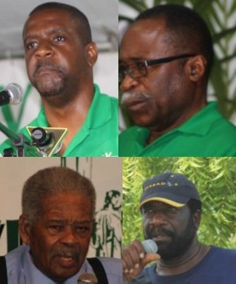 Members of the opposition. From top left: Hons Andrew A. Fahie and Julian Fraser RA; From bottom left: Hons Ralph T. O'Neal OBE and J. Alvin Christopher. Photo: VINO