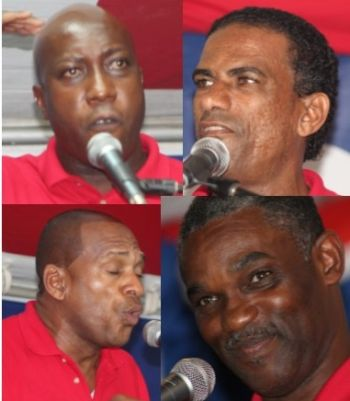 Some of the National Democratic Party candidates. From top left: Hons Myron V. Walwyn and Kedrick D. Pickering; From bottom left: Hons Mark H. Vanterpool and Archibald C. Christian. Photo: VINO