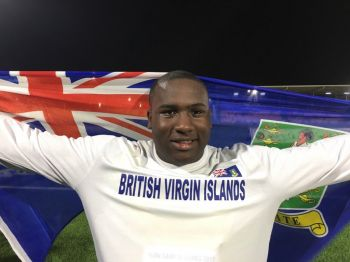 D'Jimon Gumbs has grabbed Silver in the Shot Put at the 2017 Carifta Games in Curacao. Photo: Dean H. Greenaway aka The Sportsman