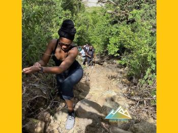 Hikers traverse a trail on Tortola, in the Virgin Islands. Photo: VINO/File