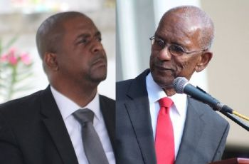 Most often the answers given in the House of Assembly by the Premier and Minister of Finance Dr The Honourable D. Orlando Smith (AL), right, have not been truthful, according to Opposition Leader Hon Andrew A. Fahie, left, and the media. Photo: VINO/File
