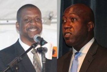 Member of the Opposition Hon Andrew A. Fahie (R1), left) expressed his disappointment in the downright rudeness, tone and verbal abuse that have been used towards Members of the Opposition and the public by the NDP administration in the HoA. During the Budget debate Hon Myron V. Walwyn, who built a small wall around the Elmore Stoutt High School (ESHS) in Road Town to the tune of $1M while schools do not have toilet paper and water for staff and students, used his time to spread lies about a private citizen and the officer's tenure in the civil service. Photo: VINO/File